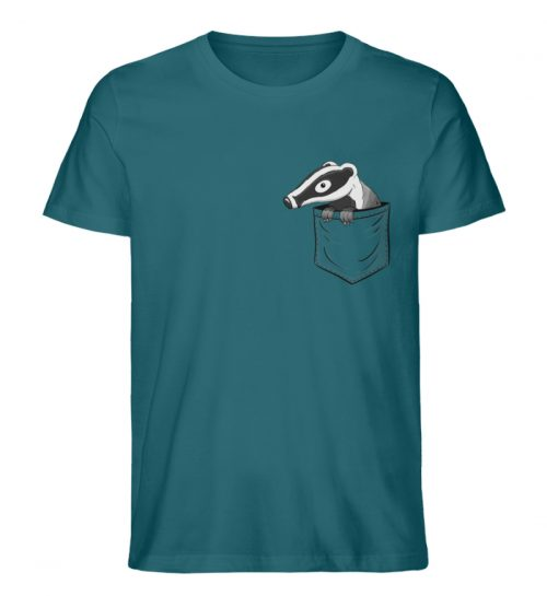 Lustig gemütlicher Dachs In der Tasche - Herren Premium Organic Shirt-6889