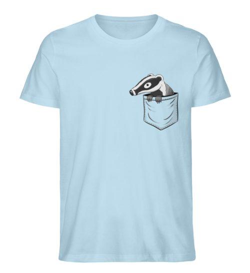 Lustig gemütlicher Dachs In der Tasche - Herren Premium Organic Shirt-6888