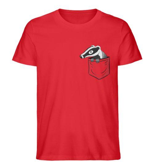 Lustig gemütlicher Dachs In der Tasche - Herren Premium Organic Shirt-6882