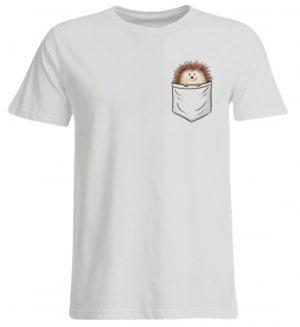 Lustiger Igel In Deiner Brust-Tasche - Übergrößenshirt-1053