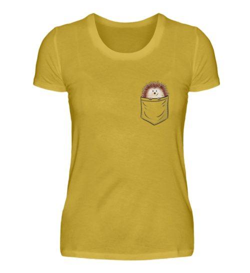 Lustiger Igel In Deiner Brust-Tasche - Damen Premiumshirt-2980