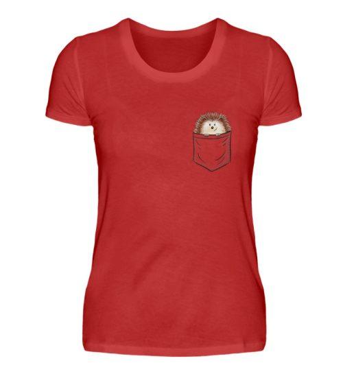 Lustiger Igel In Deiner Brust-Tasche - Damen Premiumshirt-4