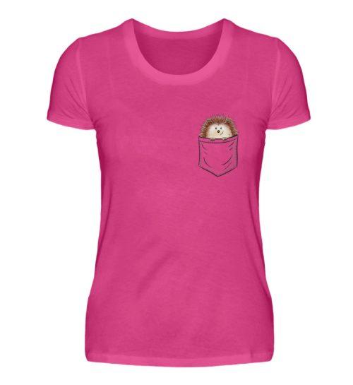 Lustiger Igel In Deiner Brust-Tasche - Damen Premiumshirt-28