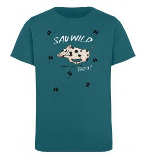 Sauwild wilde Sau | Wildschwein Theo - Kinder Organic T-Shirt-6889