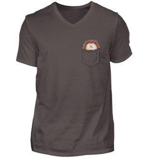 Lustiger Igel In Deiner Brust-Tasche - Herren V-Neck Shirt-2618