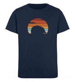 Retro Igel Silhouette im Sonnenuntergang - Kinder Organic T-Shirt-6887