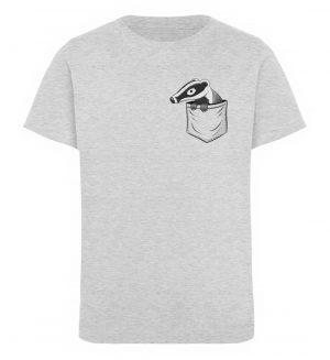 Lustig gemütlicher Dachs In der Tasche - Kinder Organic T-Shirt-6892