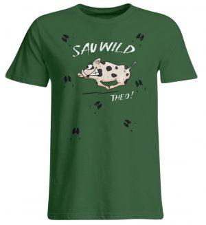 Sauwild wilde Sau | Wildschwein Theo - Übergrößenshirt-833