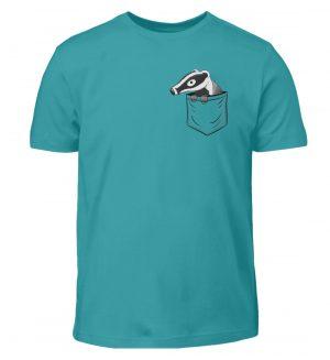 Lustig gemütlicher Dachs In der Tasche - Kinder T-Shirt-1242