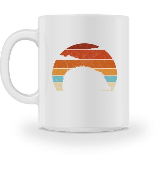 Retro Igel Silhouette im Sonnenuntergang - Tasse-3