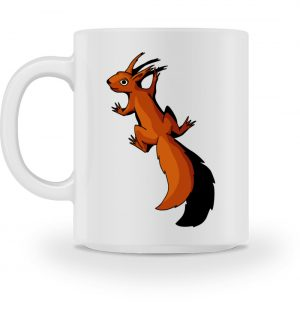 Süßes Eichhörnchen klettert - Tasse-3