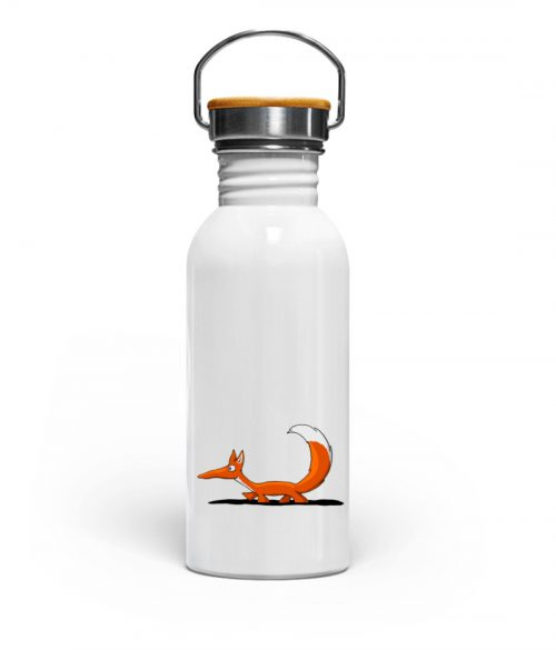 Lässiger fuchsiger schleichender Fuchs - Edelstahl Trinkflasche-3