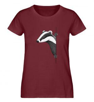 Lässiger Dachs Meister Grimbart - Damen Premium Organic Shirt-6883