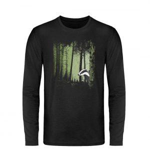 frecher Dachs im Zwielicht Wald - Unisex Long Sleeve T-Shirt-16