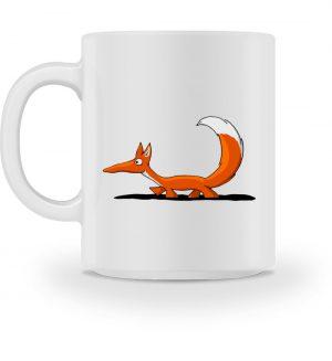 Lässiger fuchsiger schleichender Fuchs - Tasse-3