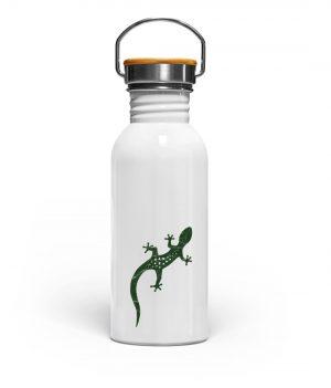 Eidechse Gecko Salamander - Edelstahl Trinkflasche-3