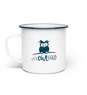 It-s OWL Good - Eule ist gut! - Emaille Tasse-3