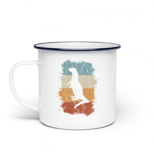 Retro Otter Fisch-Otter Silhouette - Emaille Tasse-3