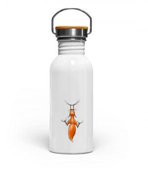 Rotes Eichhörnchen hängt ab - Edelstahl Trinkflasche-3
