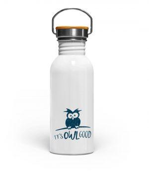 It-s OWL Good - Eule ist gut! - Edelstahl Trinkflasche-3