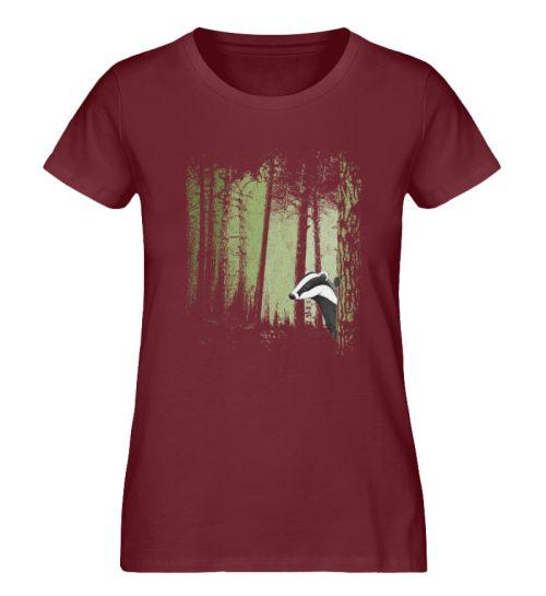 frecher Dachs im Zwielicht Wald - Damen Premium Organic Shirt-6883