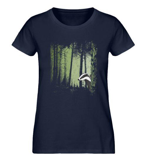 frecher Dachs im Zwielicht Wald - Damen Premium Organic Shirt-6887
