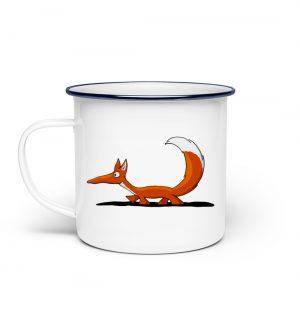 Lässiger cooler Fuchs | Mr. Fox, der Schleicher - Emaille Tasse-3
