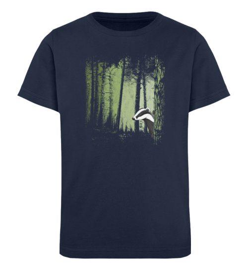 frecher Dachs im Zwielicht Wald - Kinder Organic T-Shirt-6887