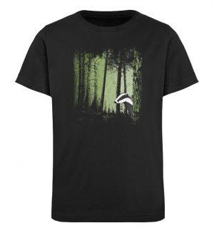 frecher Dachs im Zwielicht Wald - Kinder Organic T-Shirt-16