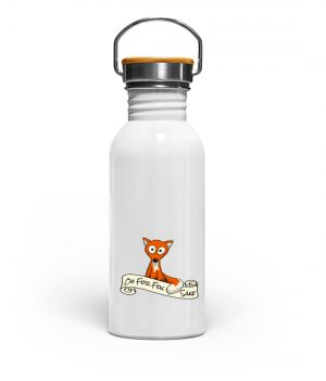 Oh For Fox Sake | Fuchs Wortspiel - Edelstahl Trinkflasche-3