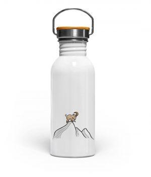 Ziegenbock in den Bergen - Edelstahl Trinkflasche-3