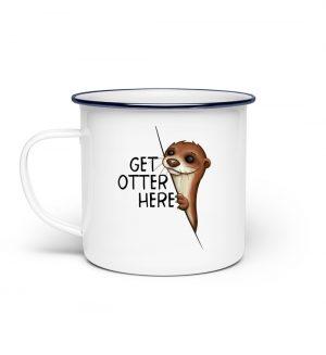 Get Otter Here Fischotter Kalauer - Emaille Tasse-3