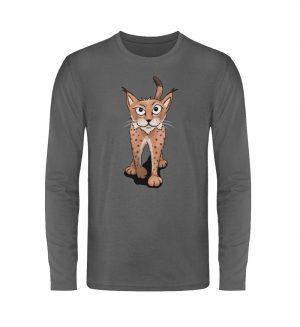 Lässiger eurasischer Luchs - Coole Wildkatze - Unisex Long Sleeve T-Shirt-627