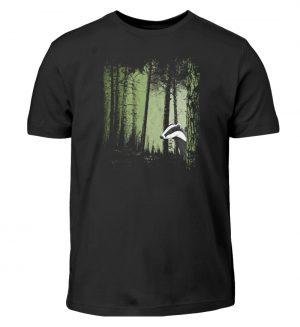 frecher Dachs im Zwielicht Wald - Kinder T-Shirt-16