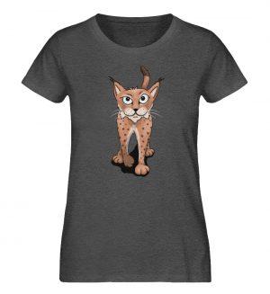 Lässiger eurasischer Luchs - Coole Wildkatze - Damen Organic Melange Shirt-6898