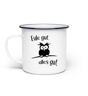 Eule Gut Alles Gut - Emaille Tasse-3