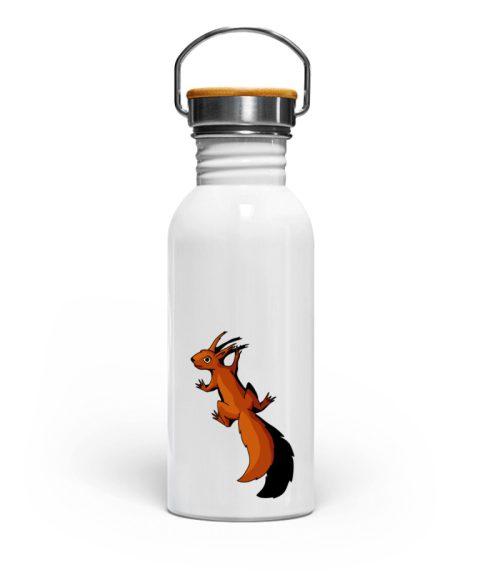 Süßes Eichhörnchen klettert - Edelstahl Trinkflasche-3