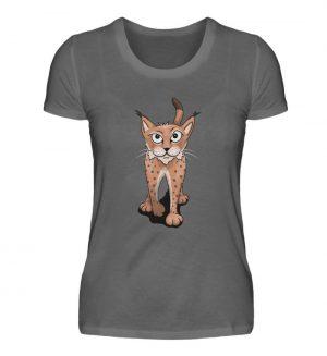 Lässiger eurasischer Luchs - Coole Wildkatze - Damen Premiumshirt-627