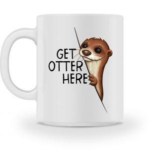 Get Otter Here Fischotter Kalauer - Tasse-3