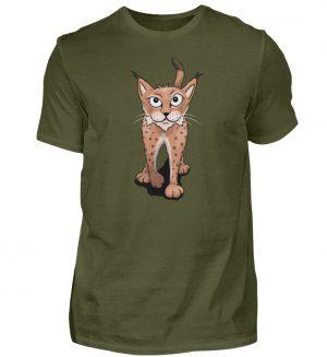 Lässiger eurasischer Luchs | Wildkatze - Herren Shirt-1109