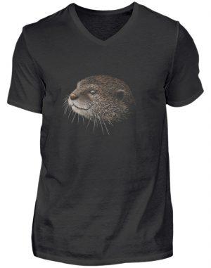 Otter Bleistift Zeichnung Kritzel-Kunst - Herren V-Neck Shirt-16