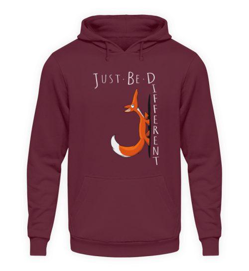 Just Be Different   Sei Anders, kleiner Fuchs - Unisex Kapuzenpullover Hoodie-839