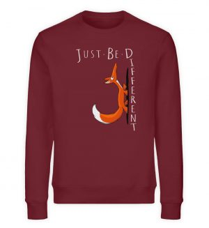 Just Be Different | Sei Anders, kleiner Fuchs - Unisex Organic Sweatshirt-6883
