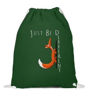 Just Be Different | Sei Anders, kleiner Fuchs - Baumwoll Gymsac-833
