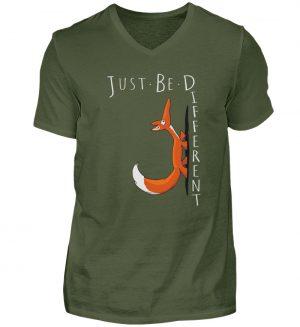Just Be Different | Sei Anders, kleiner Fuchs - Herren V-Neck Shirt-2587