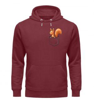 Lässiges Eichhörnchen In Tasche - Unisex Organic Hoodie-6883