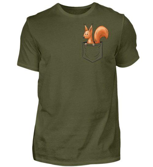 Lässiges Eichhörnchen In Tasche - Herren Shirt-1109