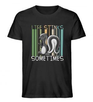 Life Stinks Sometimes Stinktier Weisheit - Herren Premium Organic Shirt-16