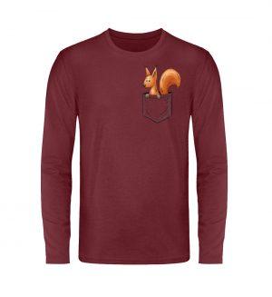 Lässiges Eichhörnchen In Tasche - Unisex Long Sleeve T-Shirt-6883