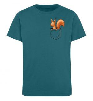Lässiges Eichhörnchen In Tasche - Kinder Organic T-Shirt-6889